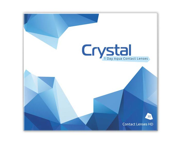 Crystal 1 Day Aqua Daily Contact Lenses