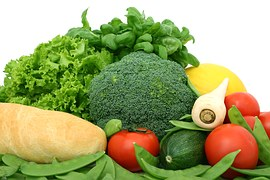 Green and yellow veg rich in lutein