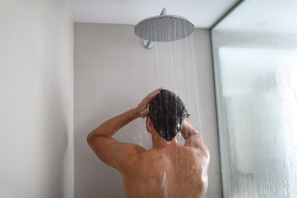 Showering often can help reduce your exposure to pollen